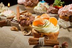 cream гайки булочки различные Стоковые Фотографии RF