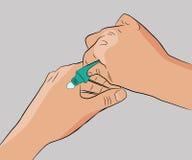 cream женщина руки иллюстрация вектора