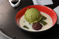 cream зеленый чай льда Стоковая Фотография RF