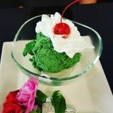 cream зеленый чай льда стоковые изображения