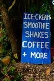 cream знак льда Стоковые Изображения
