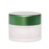 Cream изолят крышки зеленого цвета опарника Стоковые Фотографии RF