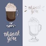 Cream иллюстрация кофе Стоковые Изображения