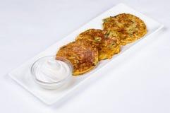 cream картошка блинчика кислая Стоковые Изображения RF