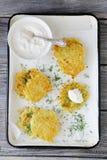cream картошка блинчика кислая Стоковое Изображение RF