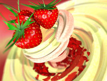cream клубника бесплатная иллюстрация
