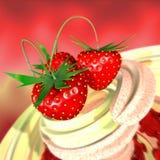 cream клубника Иллюстрация штока