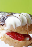 cream клубника eclair Стоковое фото RF