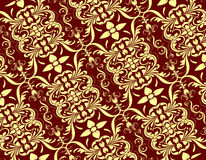 Cream красный безшовный цветочный узор Стоковое фото RF