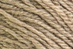 Cream крупный план макроса шарика потока шерстей Стоковые Изображения