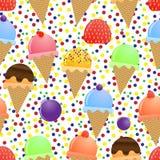 cream льдед безшовный Стоковое Изображение