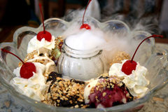 cream льдед большой Стоковое фото RF