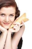 cream льдед девушки изолировал Стоковое Изображение RF