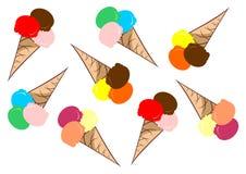 cream льдед 01 иллюстрация вектора