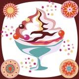 cream льдед иллюстрация штока