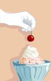 cream льдед чашки Стоковые Изображения