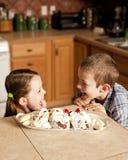 cream малыши полные страстного желания льда Стоковые Фотографии RF