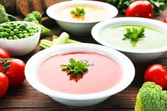cream овощ супа Стоковое Изображение RF
