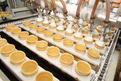 cream подготовка льда фабрики Стоковая Фотография RF