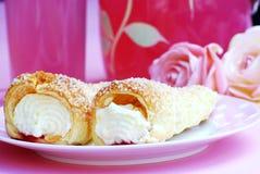 cream рожочки Стоковая Фотография