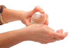 cream рука Стоковые Изображения RF