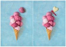 cream свежая клубника льда Стоковая Фотография RF