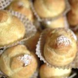 Cream слойки с сахаром порошка Стоковое Изображение