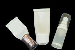 cream сторона косметические продукты без бренда Стоковое Изображение RF