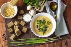 Cream суп гороха Стоковое Фото