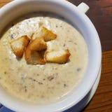 cream суп гриба стоковые изображения