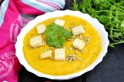 cream суп тыквы Стоковые Изображения