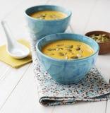 cream суп тыквы стоковое фото