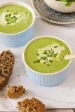 Cream суп шпината Стоковая Фотография