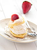 Cream слойка стоковое фото rf
