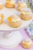Cream слойки с ванильной сливк Стоковое фото RF