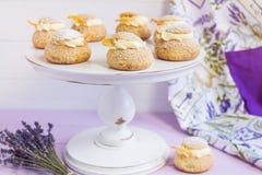 Cream слойки с ванильной сливк Стоковое Изображение