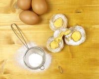 Cream слойки с сливк печенья Стоковое Фото