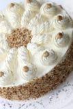 Cream торт с краем миндалины Стоковое Фото