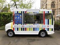 cream фургон льда Стоковая Фотография RF