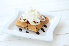 cream хлыст waffle Стоковое Изображение RF