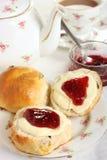 cream чай Девона Стоковые Фото