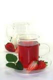cream чай клубники Стоковые Изображения