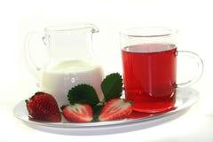 cream чай клубники Стоковая Фотография RF