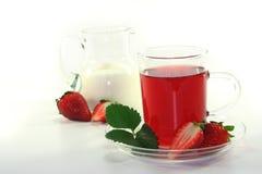 cream чай клубники Стоковое Изображение