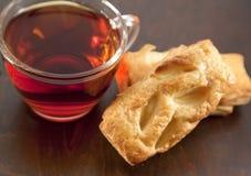 cream чай сек печенья чашки Стоковое фото RF