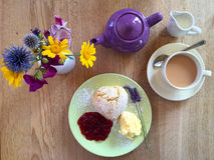 1 cream чай Стоковое Фото