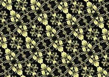 Cream черный безшовный цветочный узор Стоковое фото RF