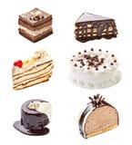 Cream шоколадный торт Стоковые Фото