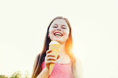 cream льдед девушки Стоковое Изображение RF