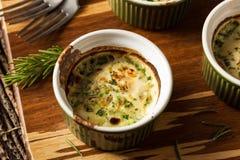 Cream яичко печет в Ramekin стоковое изображение rf